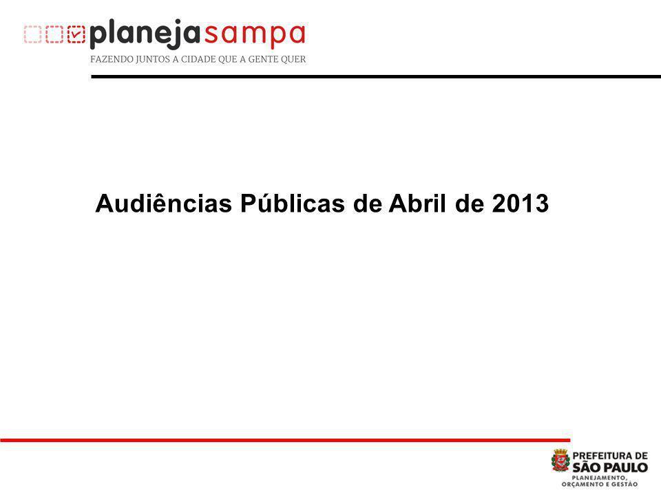 Audiências Públicas de Abril de 2013