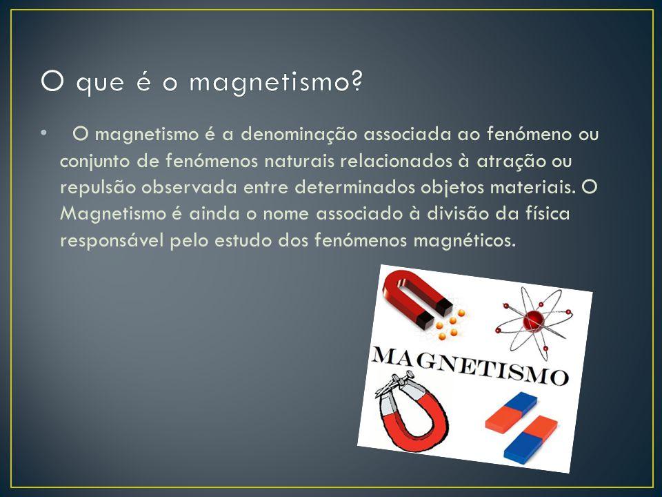 O magnetismo é a denominação associada ao fenómeno ou conjunto de fenómenos naturais relacionados à atração ou repulsão observada entre determinados o