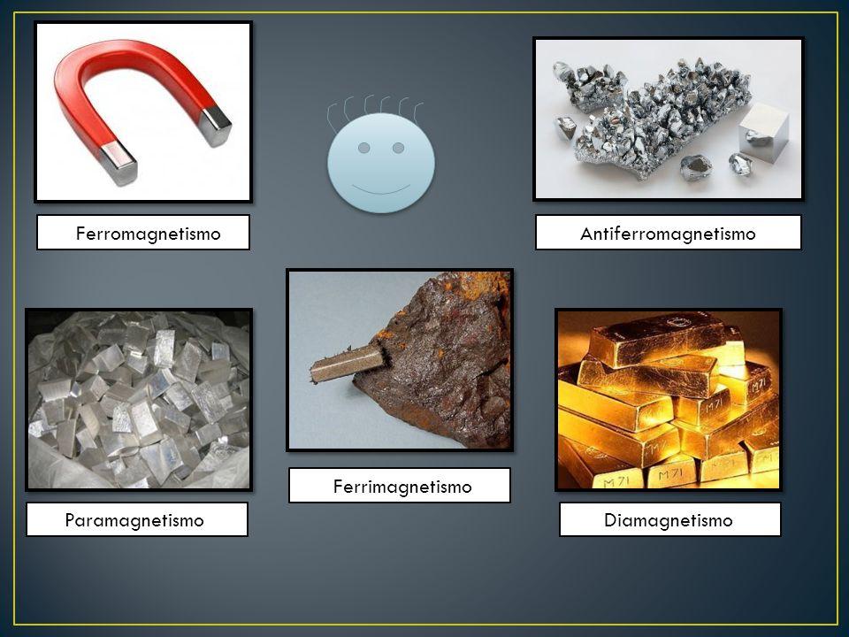 Ferromagnetismo Antiferromagnetismo Paramagnetismo Diamagnetismo Ferrimagnetismo