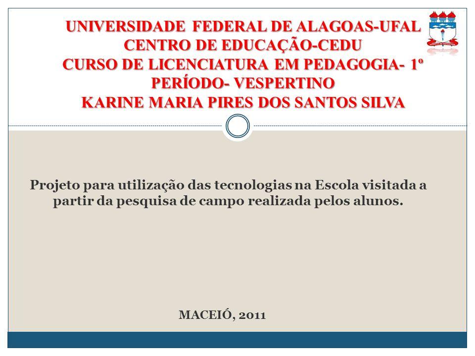 UNIVERSIDADE FEDERAL DE ALAGOAS-UFAL CENTRO DE EDUCAÇÃO-CEDU CURSO DE LICENCIATURA EM PEDAGOGIA- 1º PERÍODO- VESPERTINO KARINE MARIA PIRES DOS SANTOS