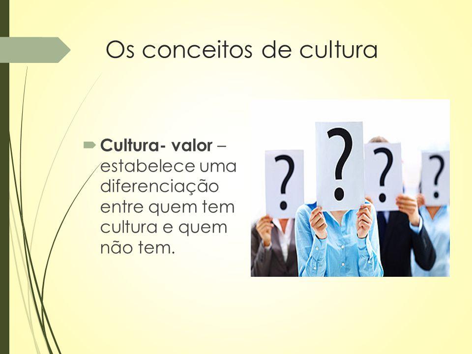 Cultura erudita  Abrange expressões como a música clássica de padrão europeu, as artes plásticas – pintura e escultura – o teatro e a literatura de cunho universal.