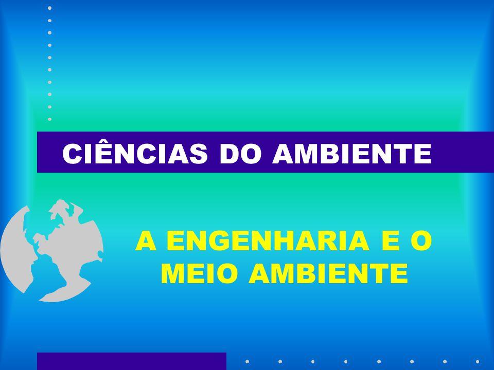 CIÊNCIAS DO AMBIENTE A ENGENHARIA E O MEIO AMBIENTE