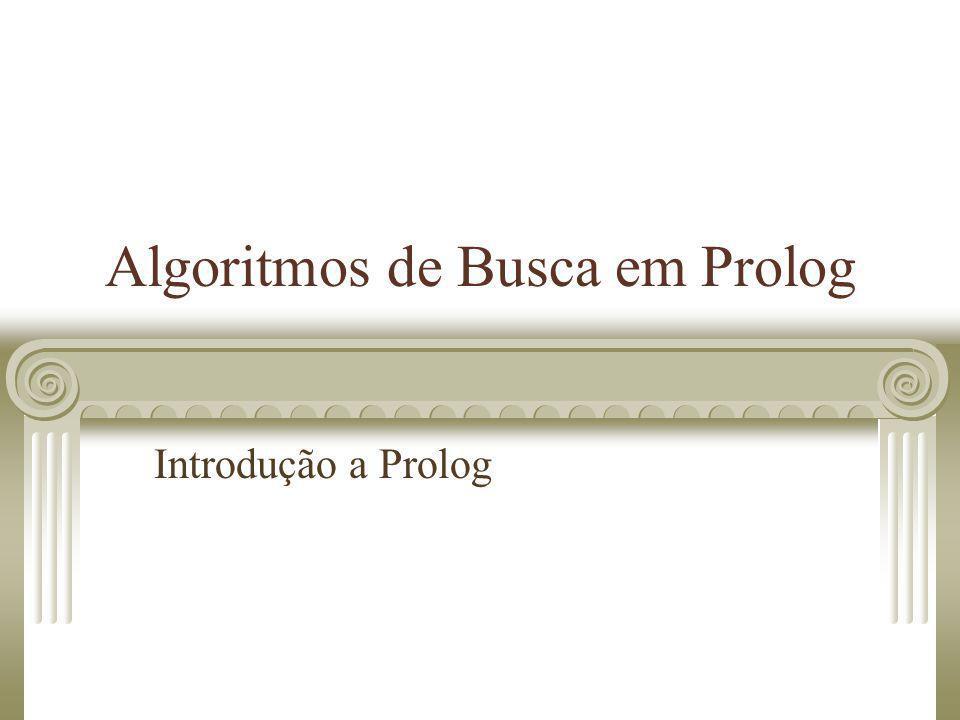 Algoritmos de Busca em Prolog Introdução a Prolog
