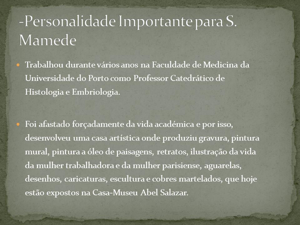 Trabalhou durante vários anos na Faculdade de Medicina da Universidade do Porto como Professor Catedrático de Histologia e Embriologia.