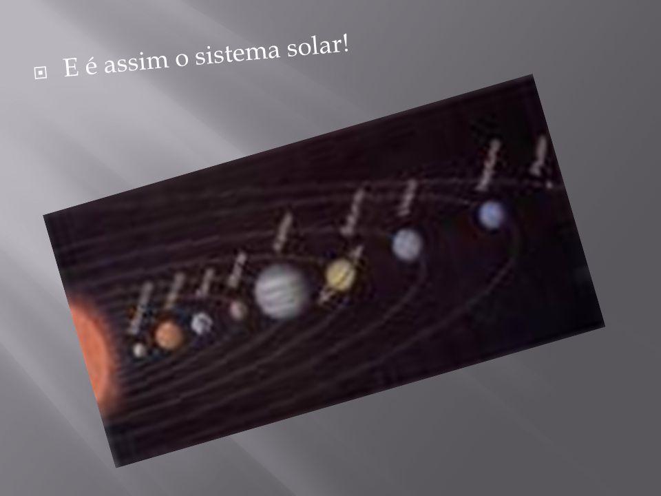  E é assim o sistema solar!