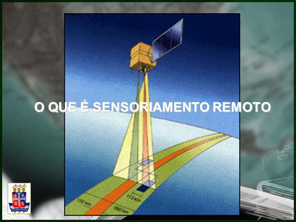 Definições do sensoriamento remoto extraída de alguns livros: Utilização de sensores para a aquisição de informações sobre objetos ou fenômenos sem que haja contato direto entre eles. (Evlyn M.