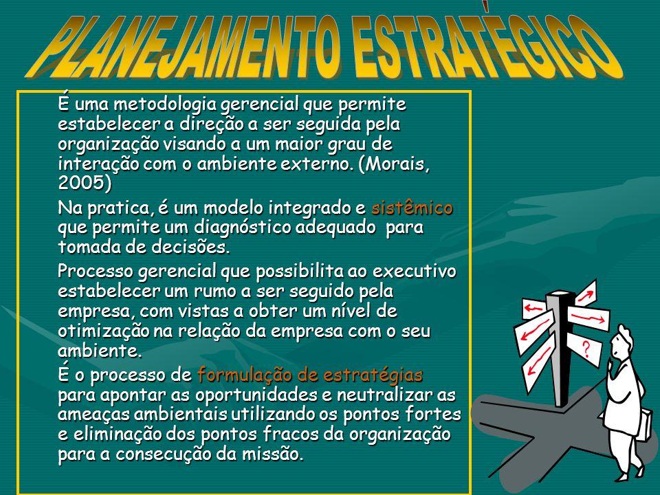 É uma metodologia gerencial que permite estabelecer a direção a ser seguida pela organização visando a um maior grau de interação com o ambiente externo.