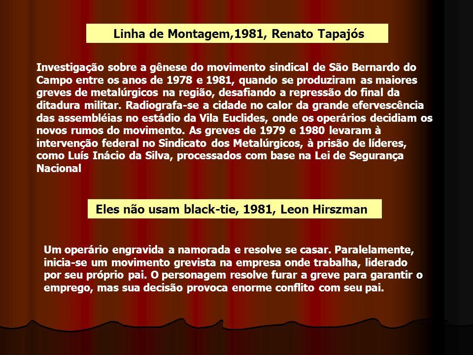 Linha de Montagem,1981, Renato Tapajós Investigação sobre a gênese do movimento sindical de São Bernardo do Campo entre os anos de 1978 e 1981, quando
