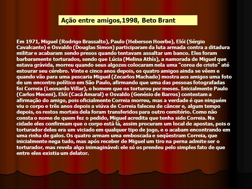 Ação entre amigos,1998, Beto Brant Em 1971, Miguel (Rodrigo Brassalto), Paulo (Heberson Hoerbe), Elói (Sérgio Cavalcante) e Osvaldo (Douglas Simon) pa