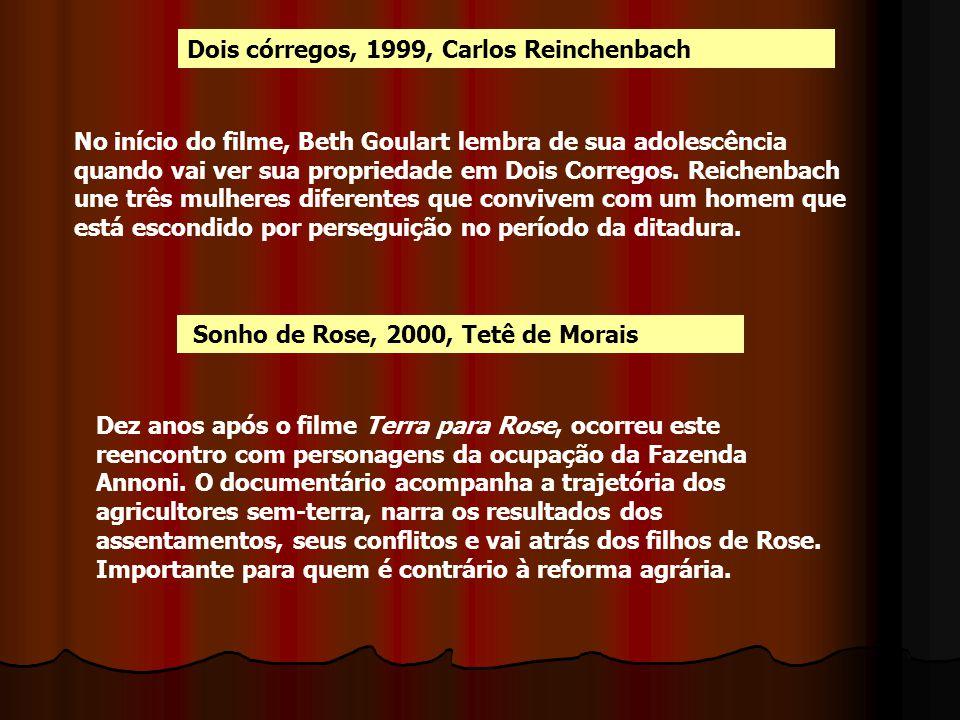 Dois córregos, 1999, Carlos Reinchenbach Sonho de Rose, 2000, Tetê de Morais No início do filme, Beth Goulart lembra de sua adolescência quando vai ve