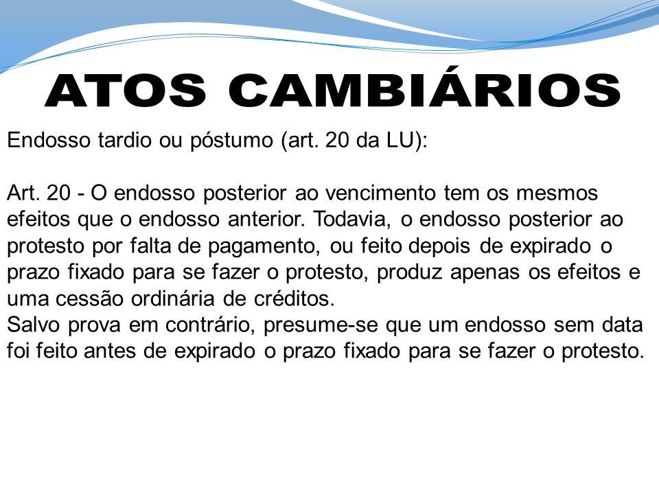 EndossoCessão Civil O endossante responde pela existência do crédito e pela solvência do devedor O cedente responde somente pela existência do crédito.