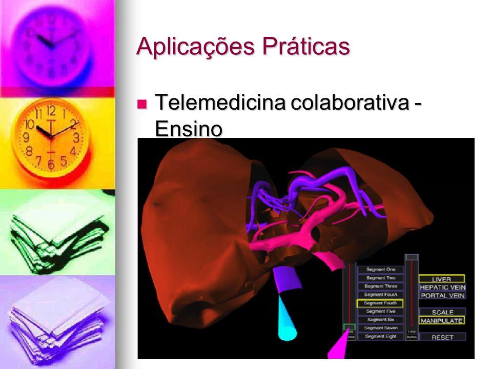 Aplicações Práticas Telemedicina colaborativa - Ensino Telemedicina colaborativa - Ensino