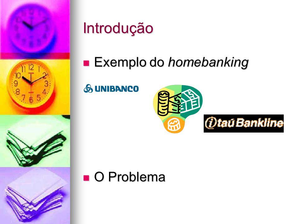 Introdução Exemplo do homebanking Exemplo do homebanking O Problema O Problema