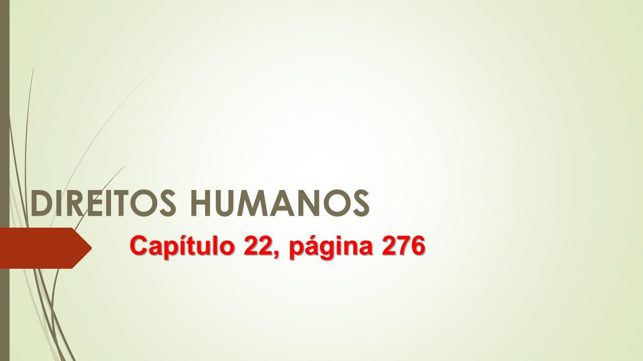 DIREITOS HUMANOS Capítulo 22, página 276