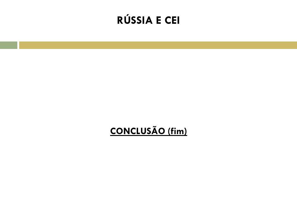 C CONCLUSÃO (fim) RÚSSIA E CEI