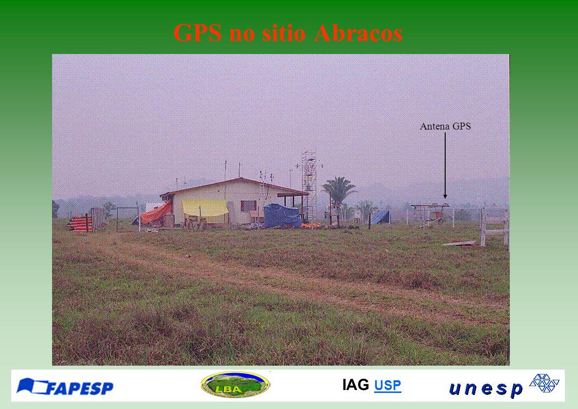 IAG USP USP GPS no sitio Abracos Antena GPS