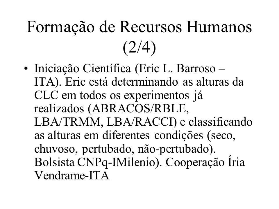Formação de Recursos Humanos (2/4) Iniciação Científica (Eric L.