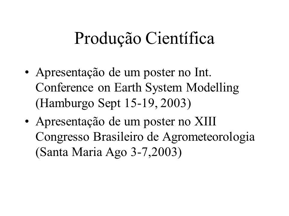 Produção Científica Apresentação de um poster no Int.