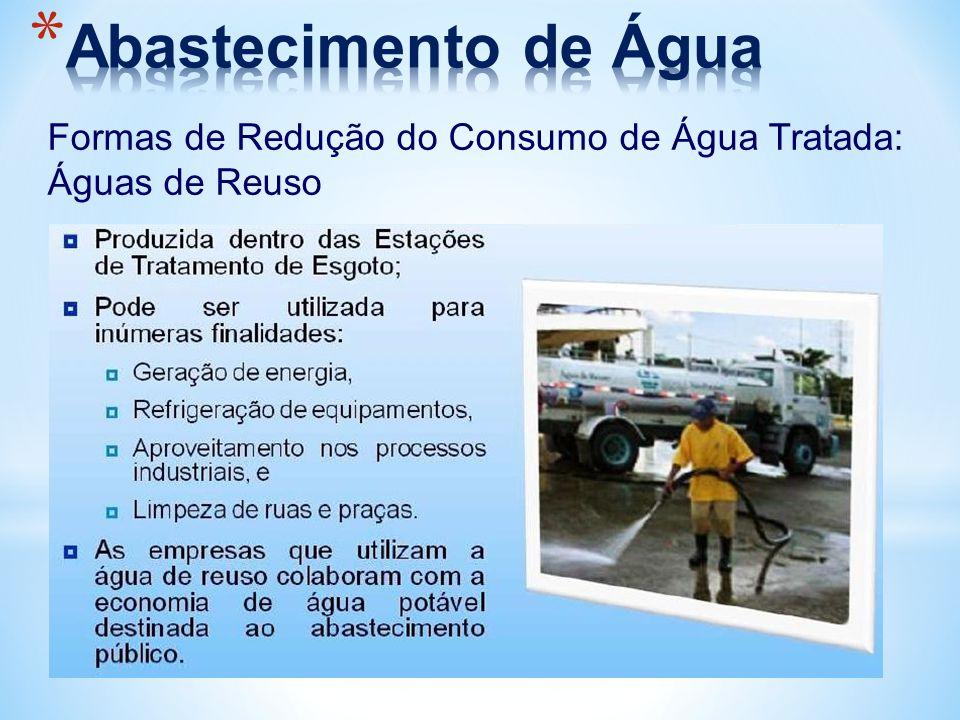 Formas de Redução do Consumo de Água Tratada: Águas de Reuso