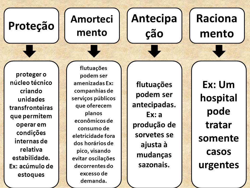 Proteção Amorteci mento Antecipa ção Raciona mento proteger o núcleo técnico criando unidades transfronteiras que permitem operar em condições interna