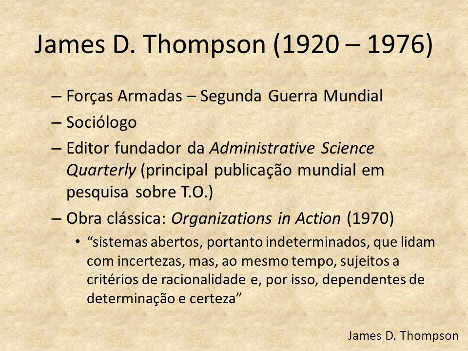 James D. Thompson