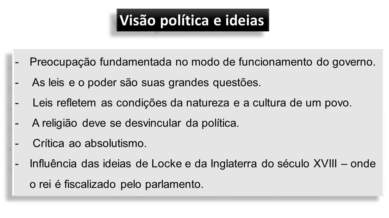-Preocupação fundamentada no modo de funcionamento do governo.