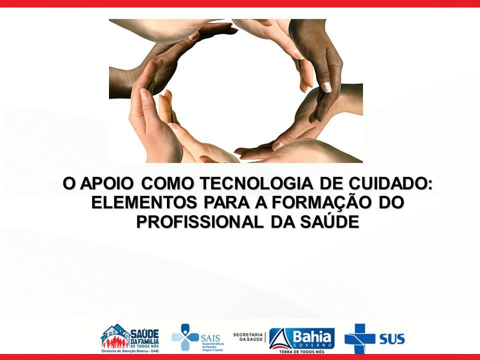 O APOIO COMO TECNOLOGIA DE CUIDADO: ELEMENTOS PARA A FORMAÇÃO DO PROFISSIONAL DA SAÚDE