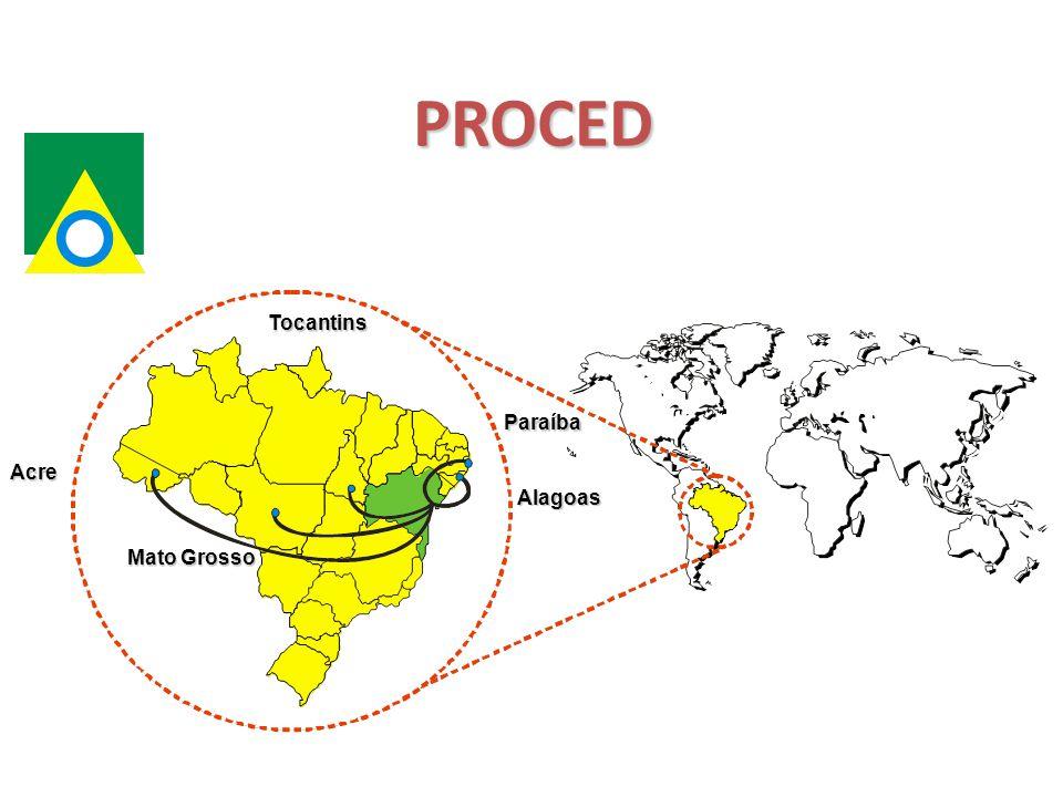 PROCED Acre Mato Grosso Tocantins Alagoas Paraíba