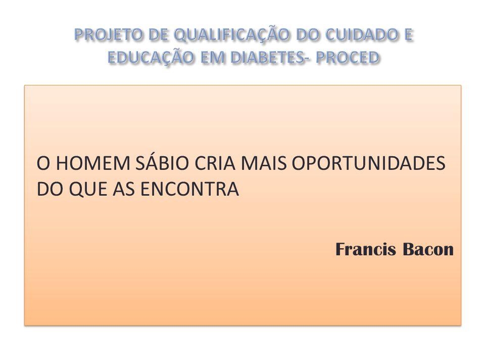 O HOMEM SÁBIO CRIA MAIS OPORTUNIDADES DO QUE AS ENCONTRA Francis Bacon O HOMEM SÁBIO CRIA MAIS OPORTUNIDADES DO QUE AS ENCONTRA Francis Bacon