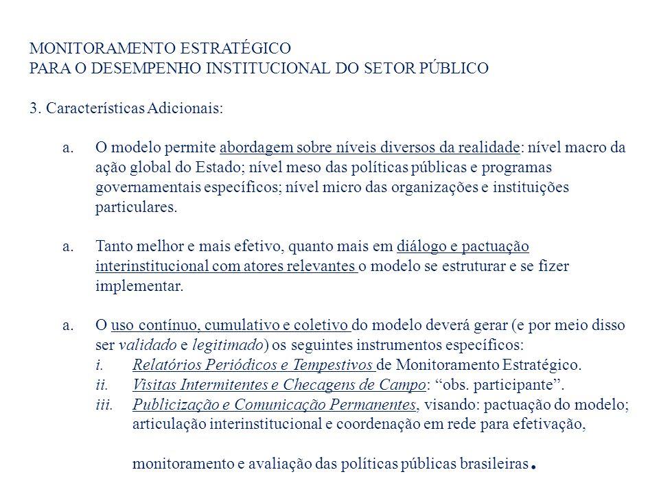 MONITORAMENTO ESTRATÉGICO PARA O DESEMPENHO INSTITUCIONAL DO SETOR PÚBLICO 3.