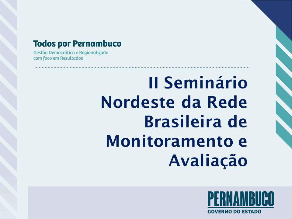 II Seminário Nordeste da Rede Brasileira de Monitoramento e Avaliação