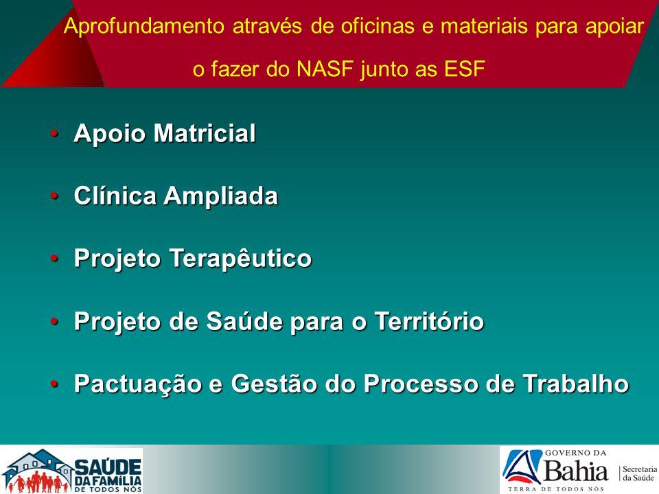 Aprofundamento através de oficinas e materiais para apoiar o fazer do NASF junto as ESF Apoio MatricialApoio Matricial Clínica AmpliadaClínica Ampliad