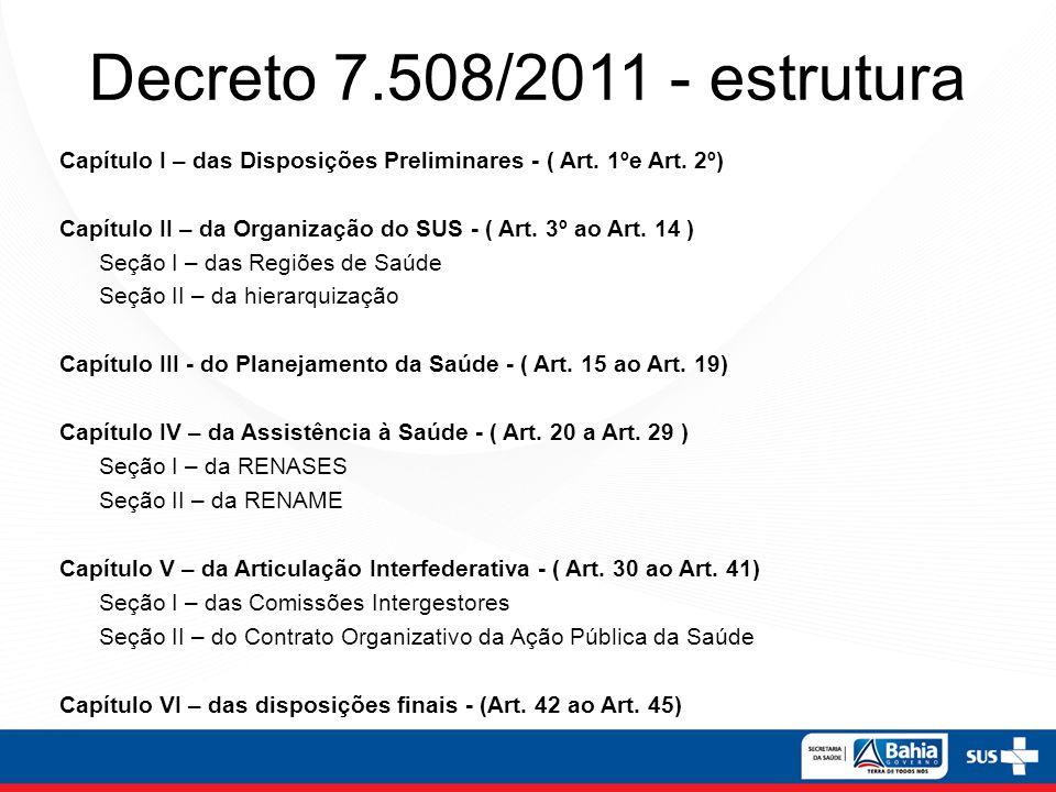 Decreto 7.508/2011 - conceitos Art.