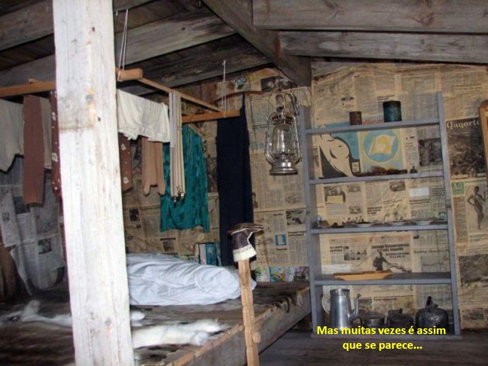 Interior de uma casa Inuit…