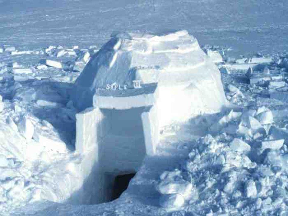 Hoje em dia os Inuits usam igloos apenas quando caçam por muitos dias…