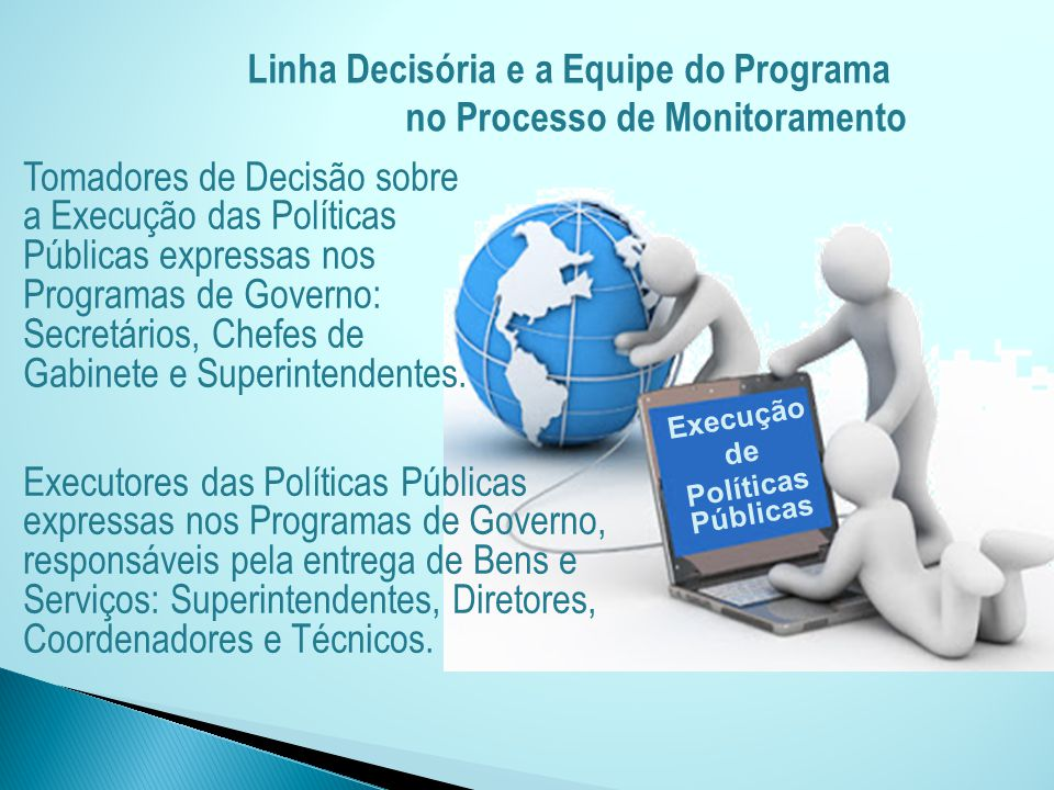 Execução de Políticas Públicas Linha Decisória e a Equipe do Programa no Processo de Monitoramento Tomadores de Decisão sobre a Execução das Políticas