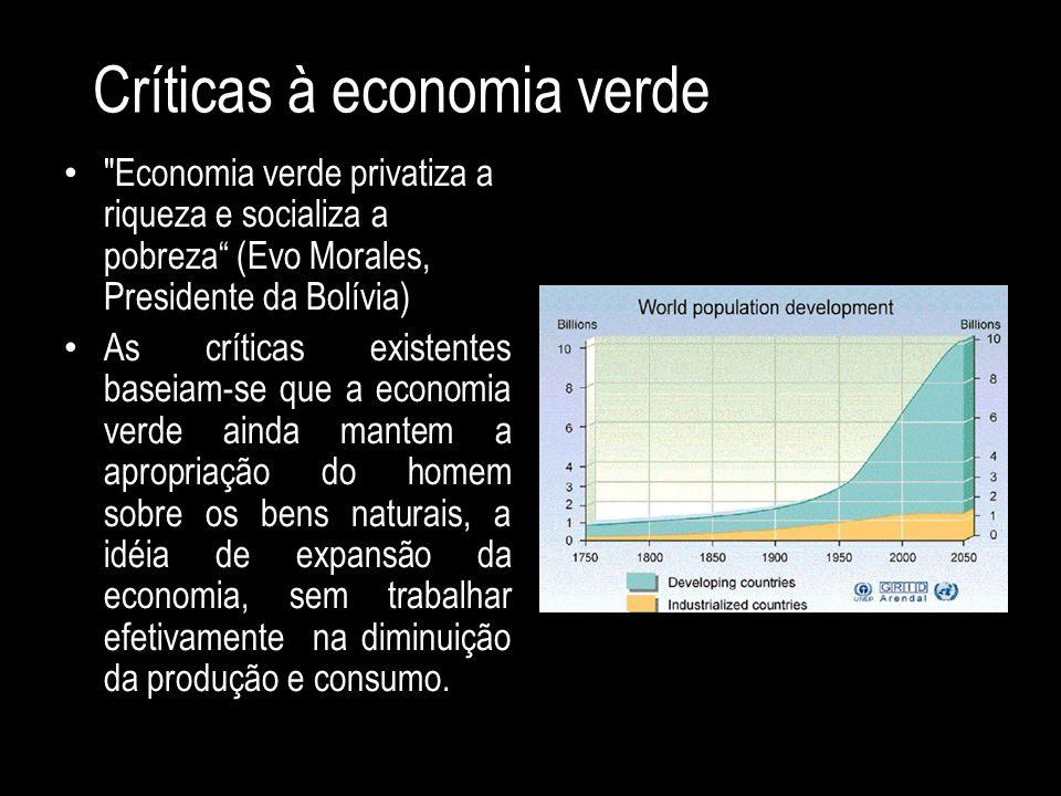 Críticas à economia verde