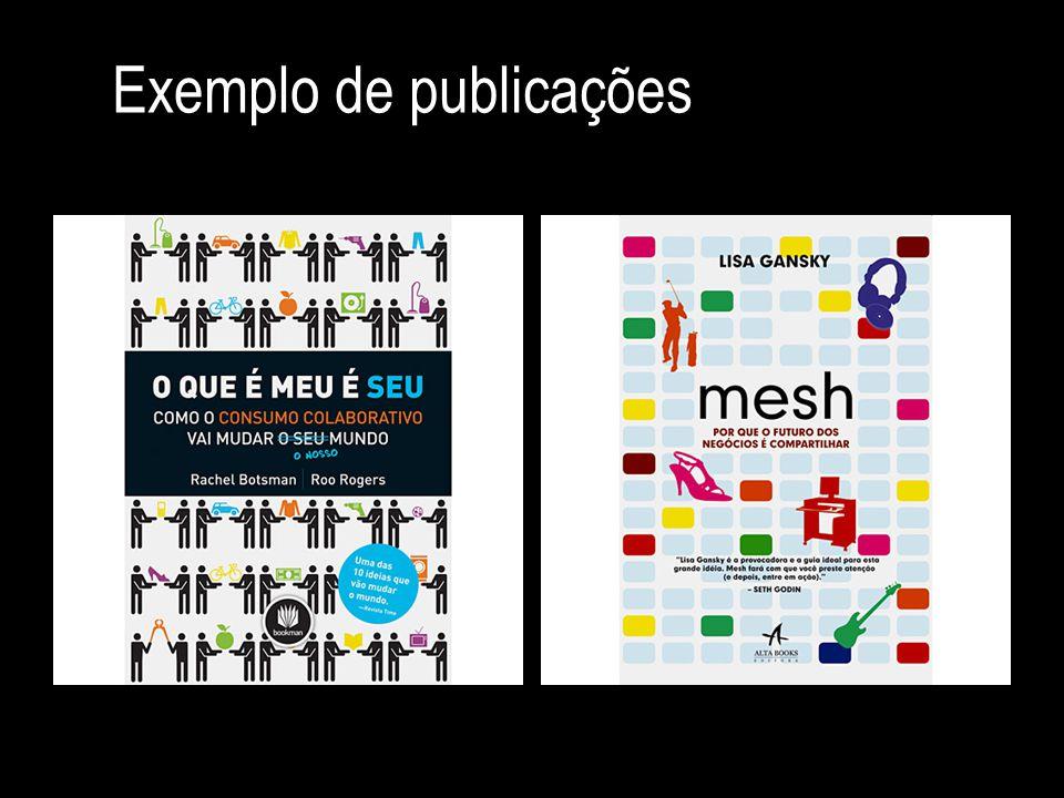Exemplo de publicações