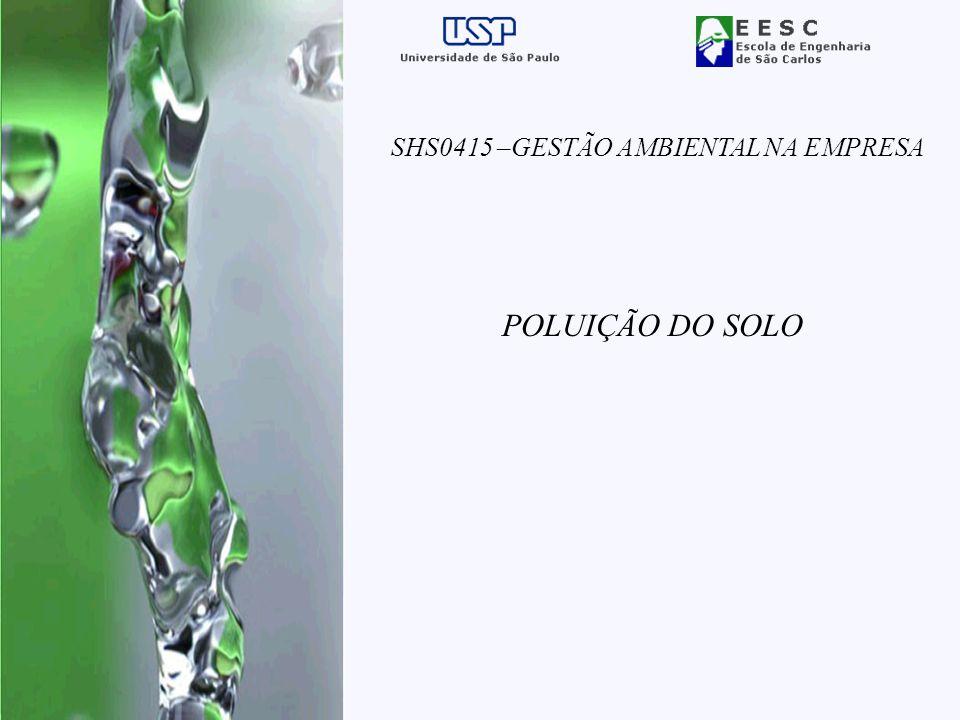 POLUIÇÃO DO SOLO SHS0415 –GESTÃO AMBIENTAL NA EMPRESA