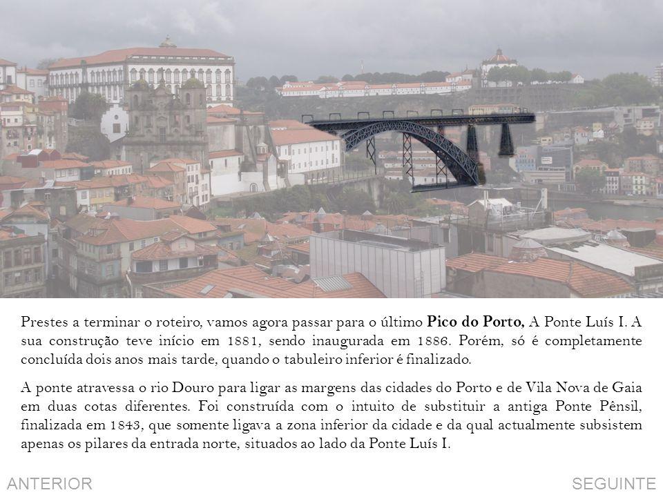 Prestes a terminar o roteiro, vamos agora passar para o último Pico do Porto, A Ponte Luís I.