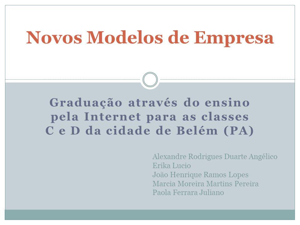 Novos Modelos de Empresa Graduação através do ensino pela Internet para as classes C e D da cidade de Belém (PA) Alexandre Rodrigues Duarte Angélico E