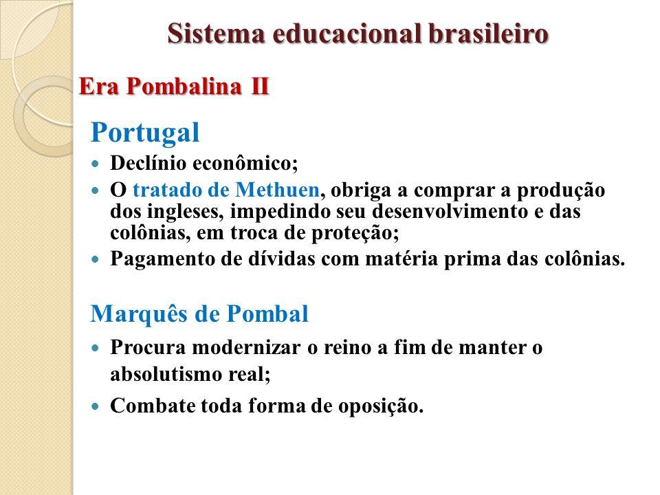 Portugal Declínio econômico; O tratado de Methuen, obriga a comprar a produção dos ingleses, impedindo seu desenvolvimento e das colônias, em troca de