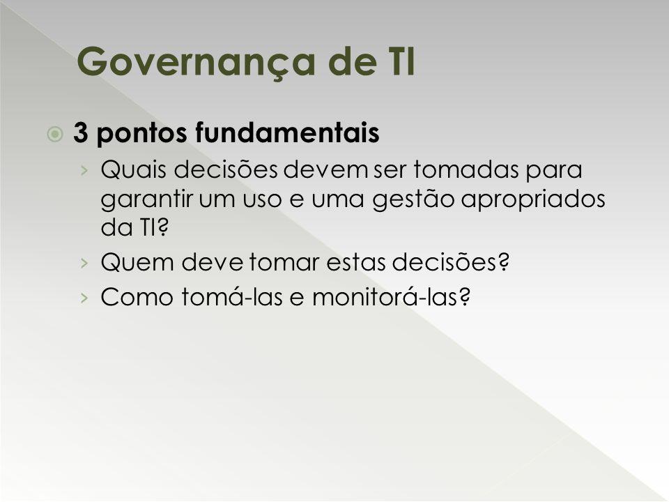  3 pontos fundamentais › Quais decisões devem ser tomadas para garantir um uso e uma gestão apropriados da TI? › Quem deve tomar estas decisões? › Co