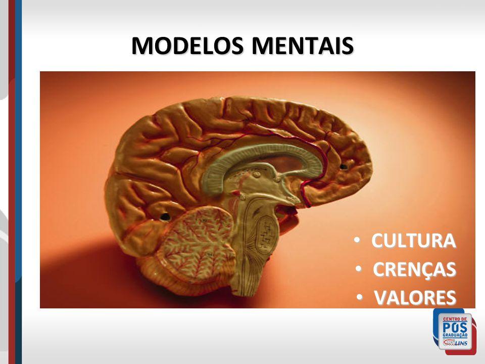 MODELOS MENTAIS CULTURA CULTURA CRENÇAS CRENÇAS VALORES VALORES