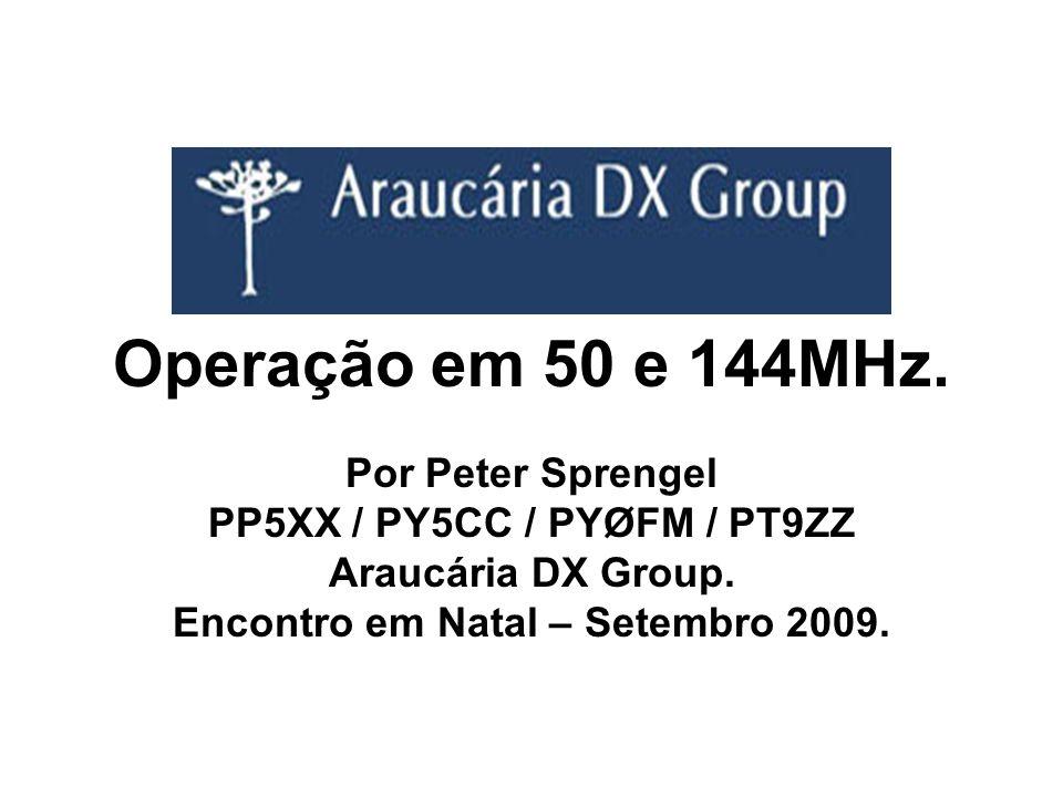 Operação em 50 e 144MHz.O que é VHF. 30 a 300 MHz.