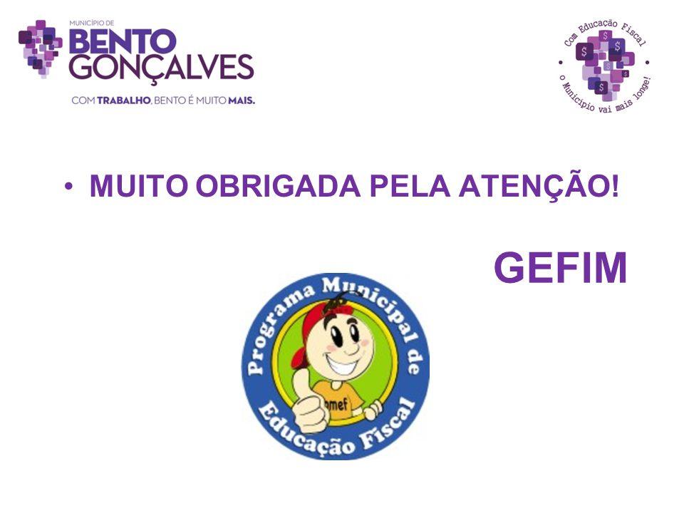 GEFIM MUITO OBRIGADA PELA ATENÇÃO!