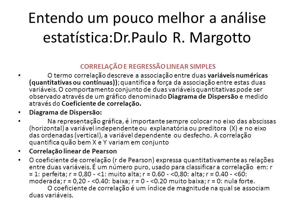 Entendo um pouco melhor a análise estatística:Dr.Paulo R.