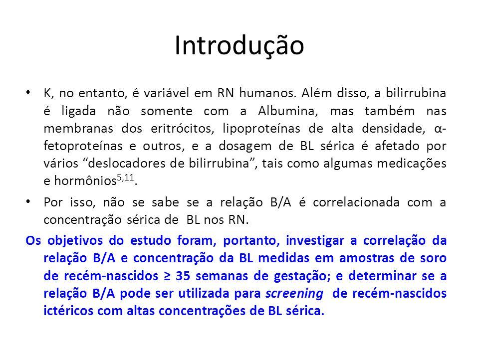 Introdução K, no entanto, é variável em RN humanos.