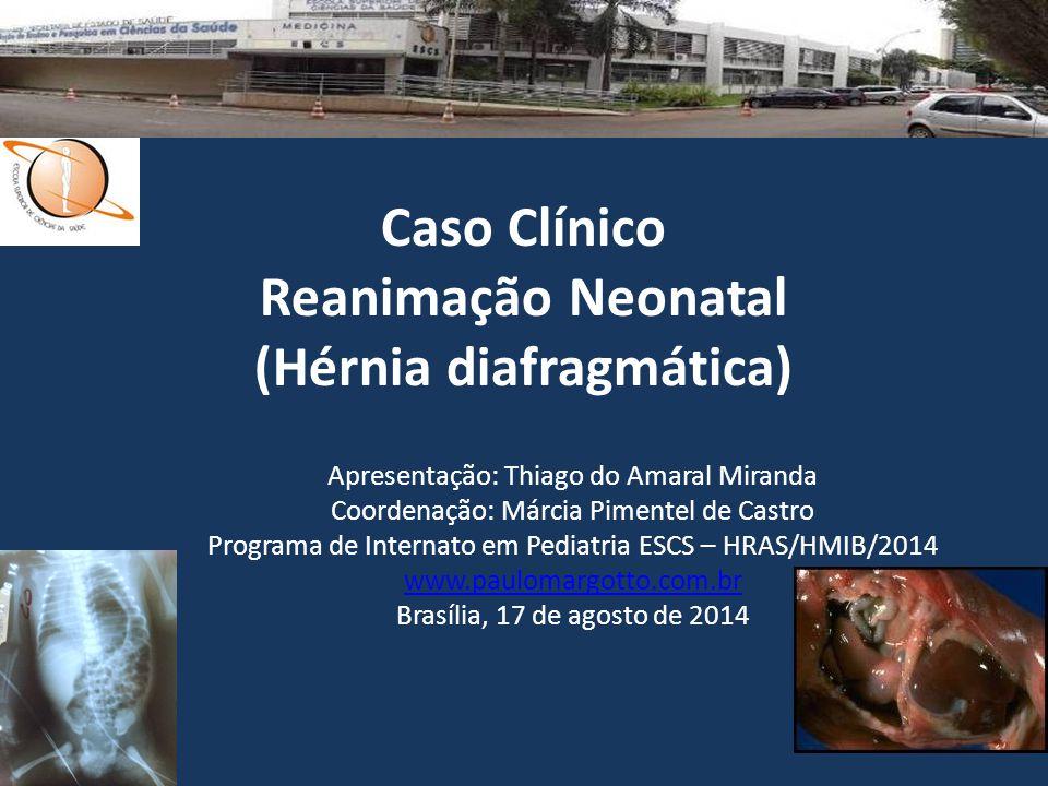 Caso Clínico Reanimação Neonatal (Hérnia diafragmática) Apresentação: Thiago do Amaral Miranda Coordenação: Márcia Pimentel de Castro Programa de Inte