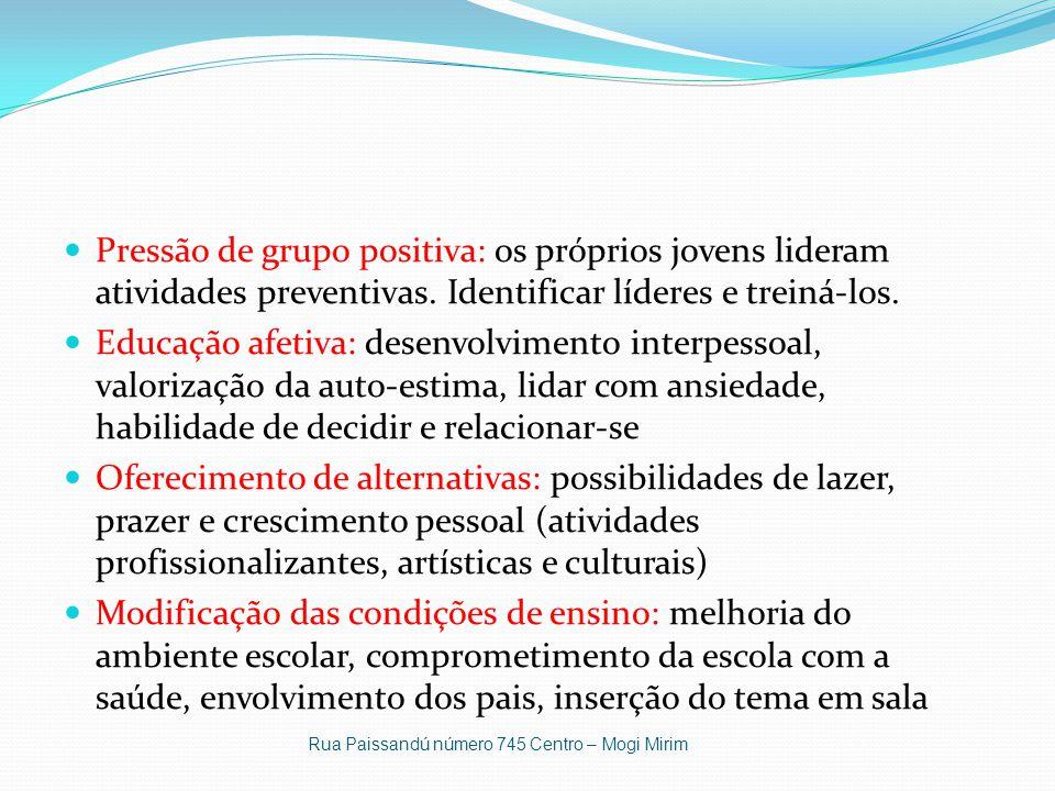 Pressão de grupo positiva: os próprios jovens lideram atividades preventivas.